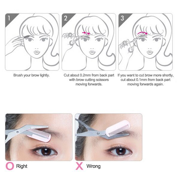 Review Tutorial And Story Etude House Eyebrow Comb Scissors