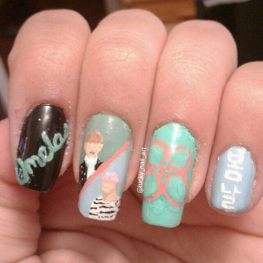 Spring day inspired nail art armys amino i tried my best prinsesfo Choice Image