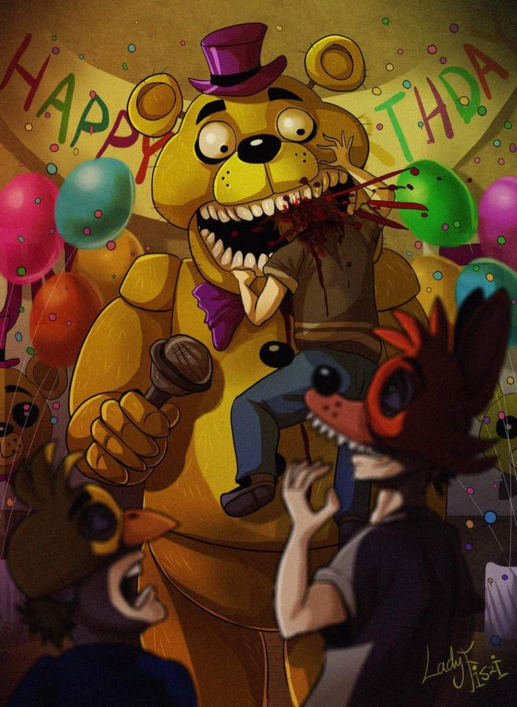 in the fnaf series what game mention about fredbears family diner