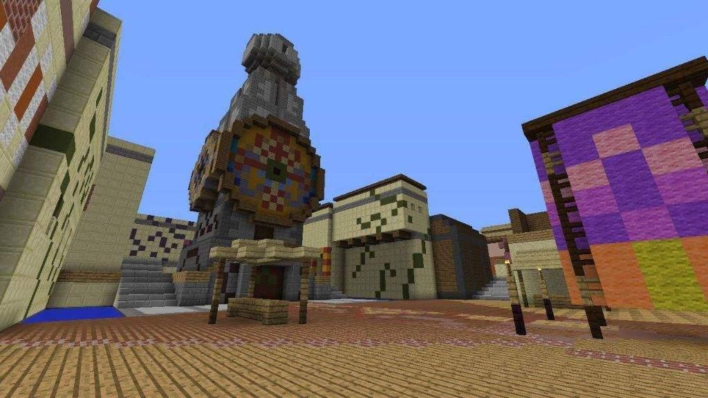 Updated Clock Town build in Minecraft | Zelda Amino