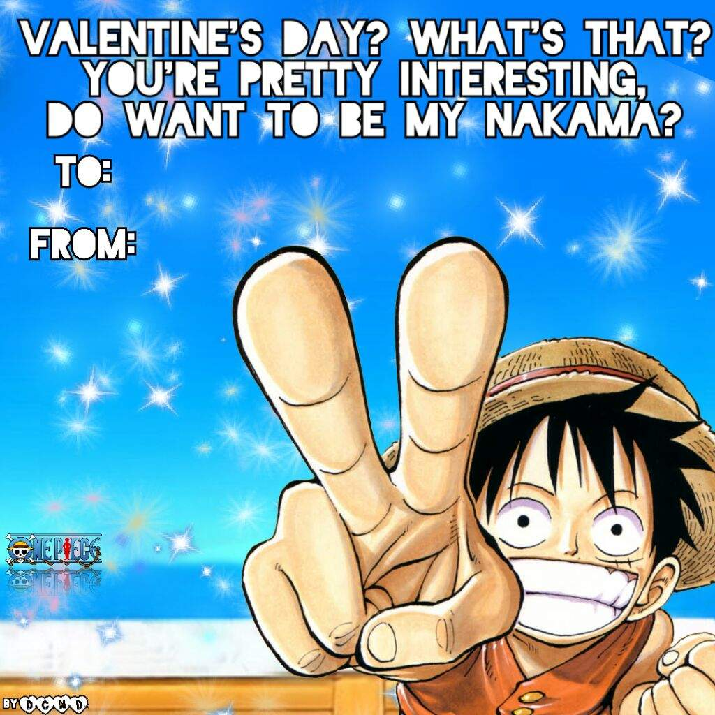 Happy Valentine S Day One Piece Card One Piece Amino
