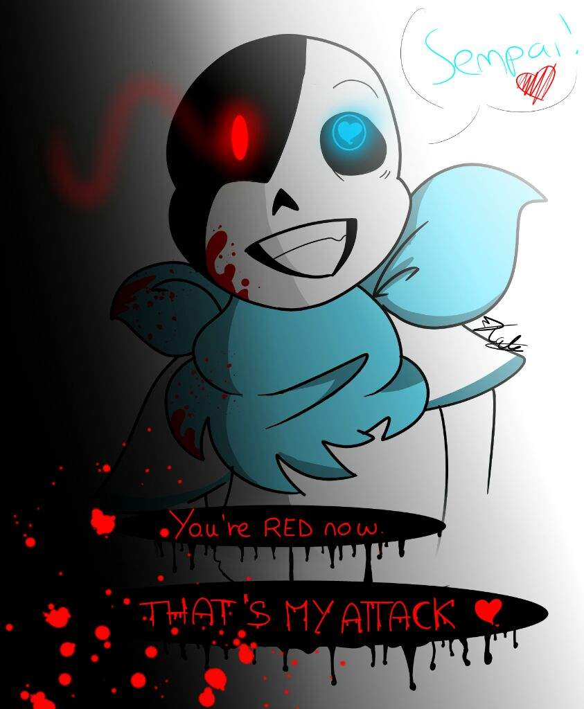 You Re Red Now Yandere Blueberry Sans Undertale Amino