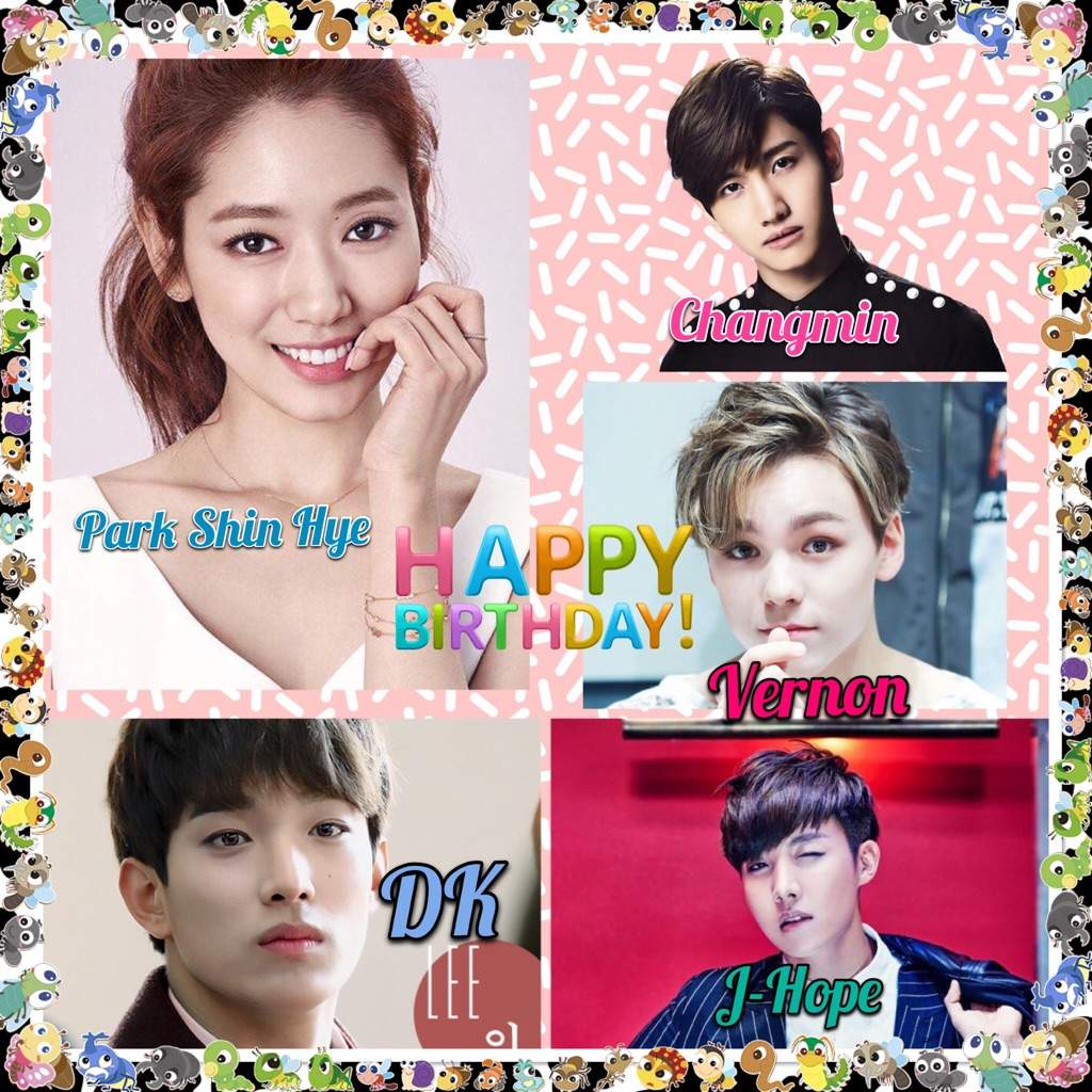 Happy Shin Hye, Changmin, Vernon, DK and Jhope day❤ | K-Pop Amino