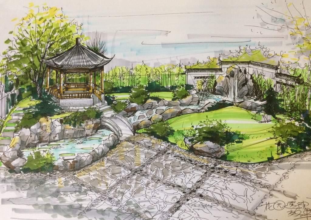 Chinese garden design art amino for Chinese garden design