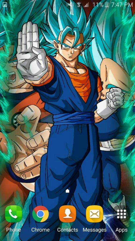 This Is The Vegito Themed Wallpaper It Was First Fusion One I Made Here What Used
