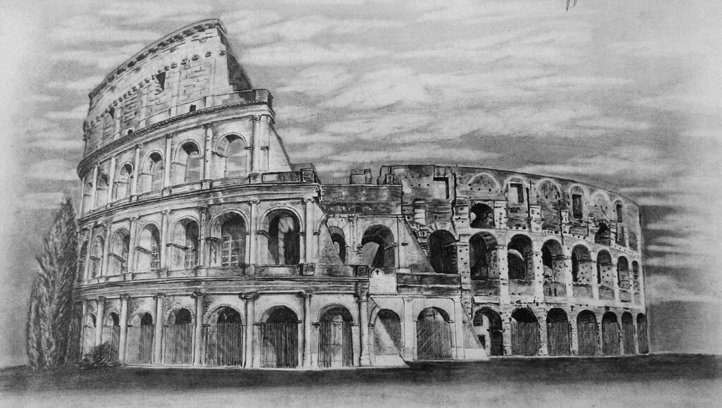 Dibujo Coliseo Romano Arte Amino Amino
