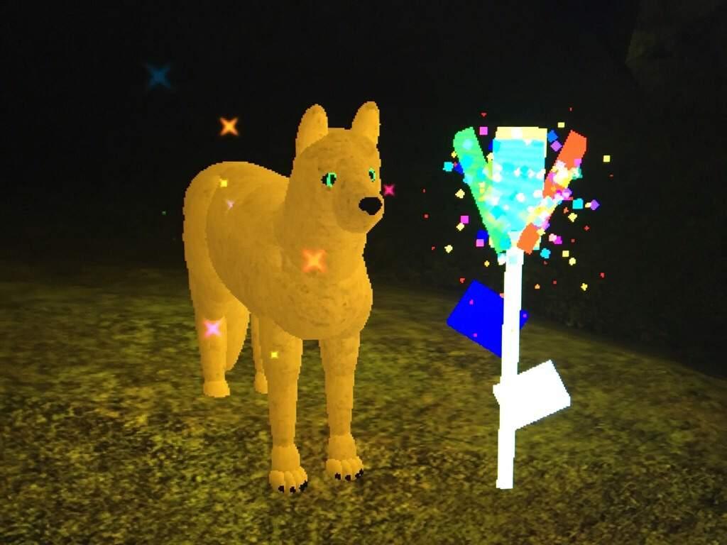 Wolf Life The Super Rare Rainbow Flower Roblox Amino