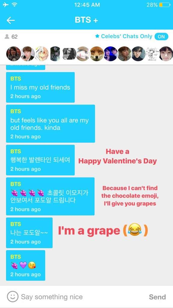 BTS+ Channel Chat Translations (V Live App) *will update