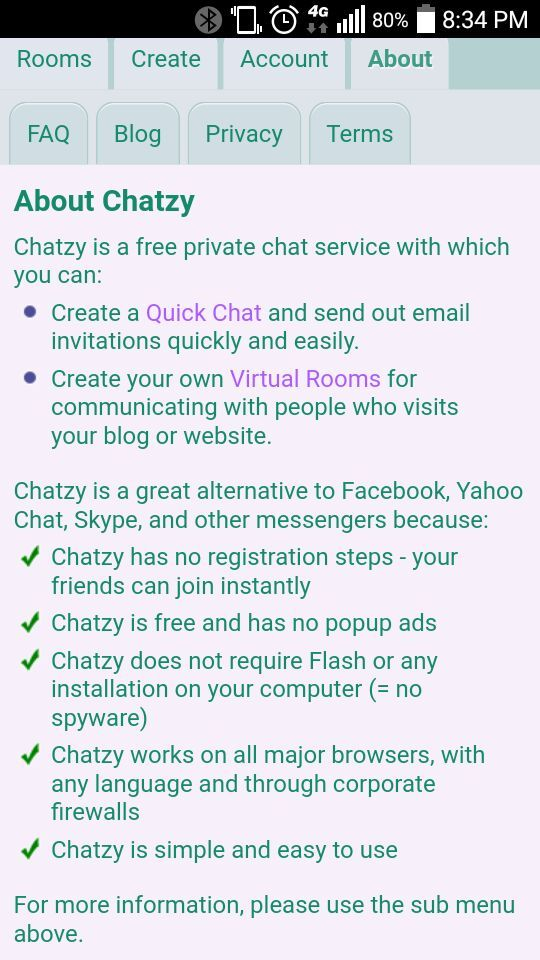 chatzy rooms
