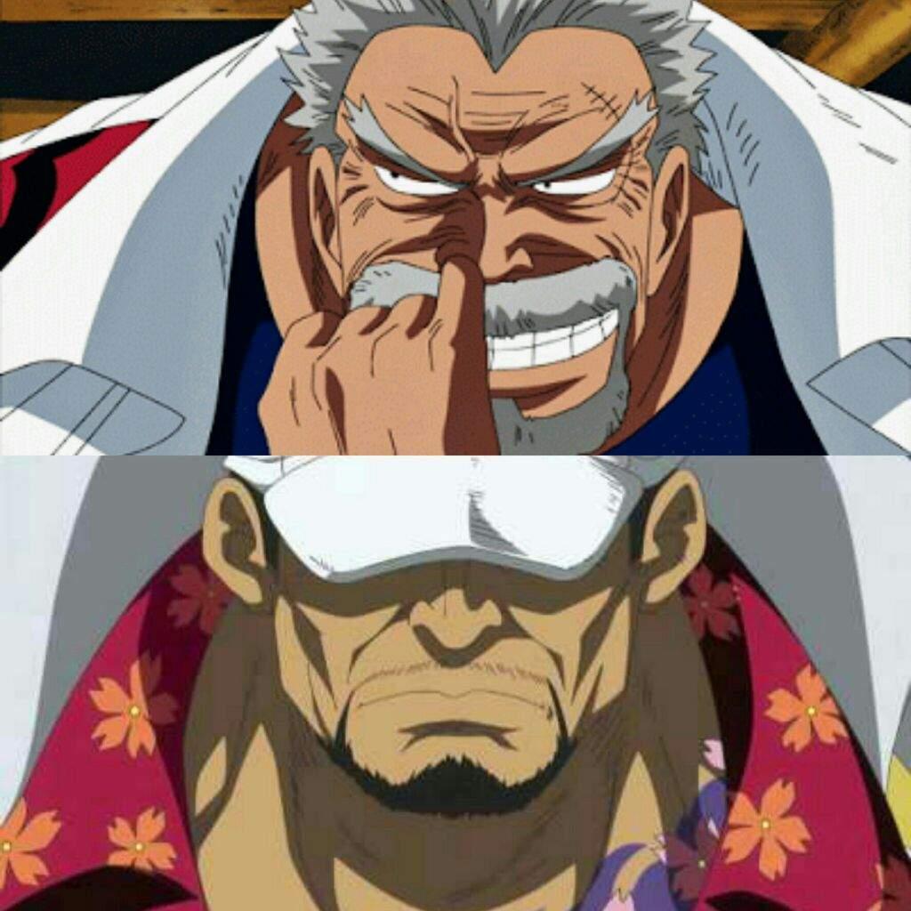 Monkey D. Garp vs Sakazuki Aka...