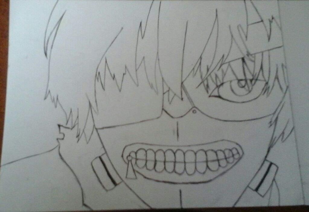 Proceso De Dibujo De Kaneki