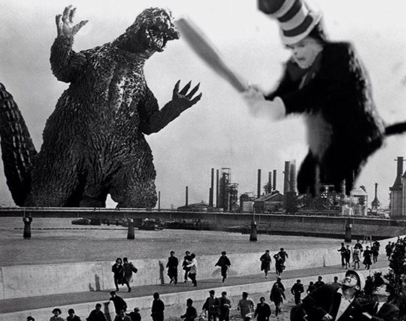 The Cat In The Hat Vs Godzilla   Dank Memes Amino