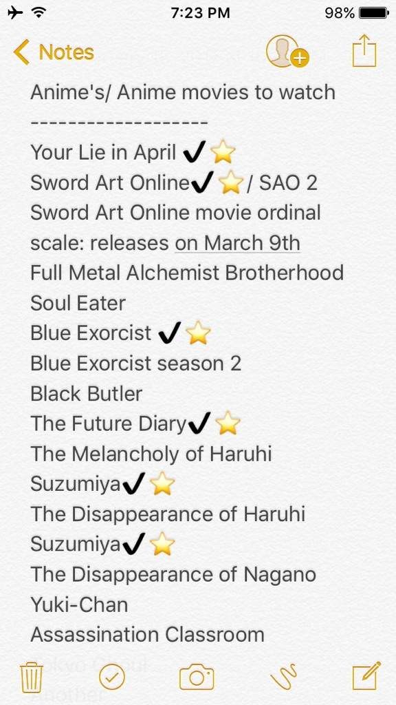 Anime Watch List Anime Amino