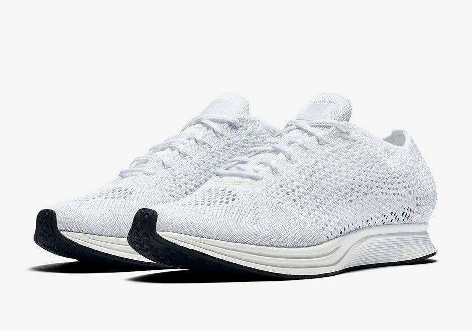 It looks like the flyknit racer has been hit with all white treatment. The  racer features a clean White Flyknit upper that s accented with Sail  detailing f236611a2
