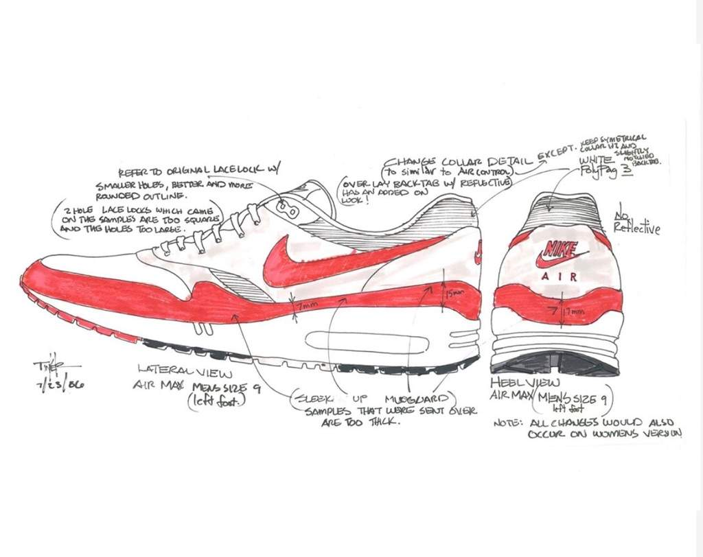 separation shoes a05fa ea657 In 1987, the Air Max 1 changed the world of footwear forever. Designed by  Tinker Hatfield, the icon made the invisible, visible with the arrival of  visible ...