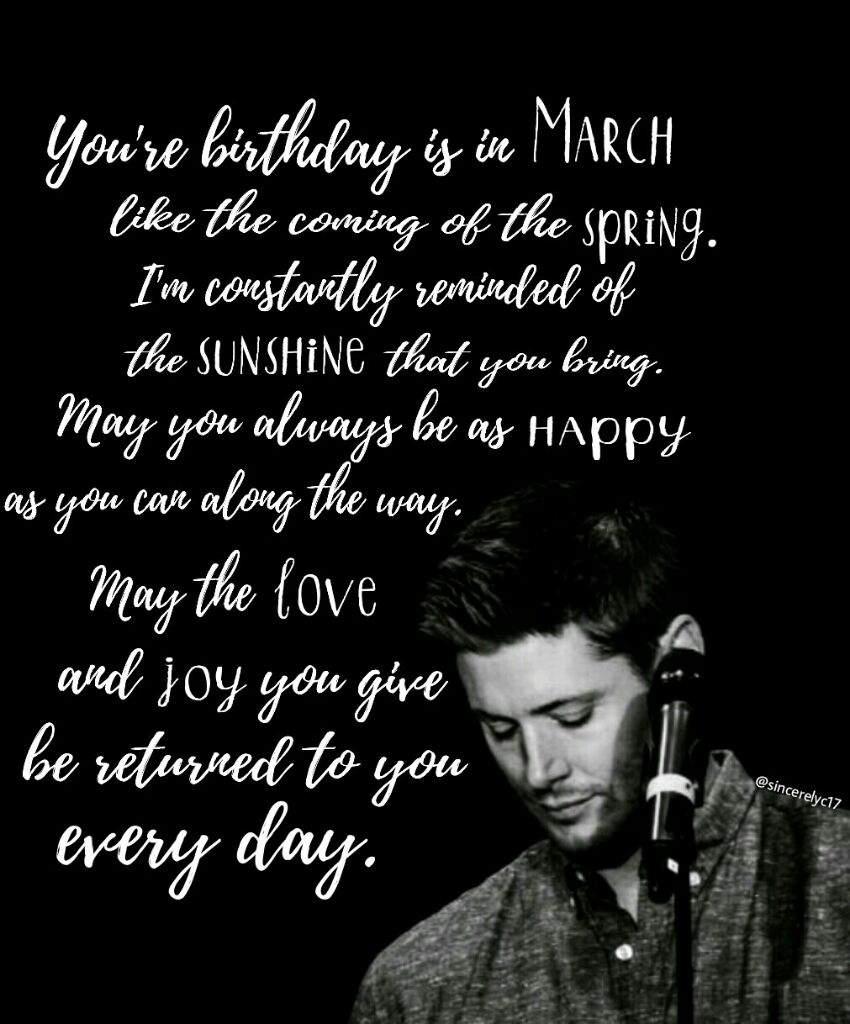 Happy Birthday Jensen