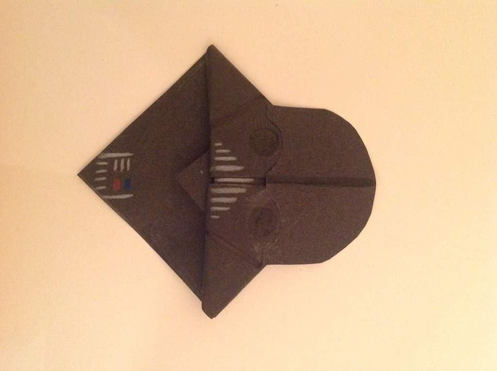 Origami Darth Vader Bookmark Star Wars Amino