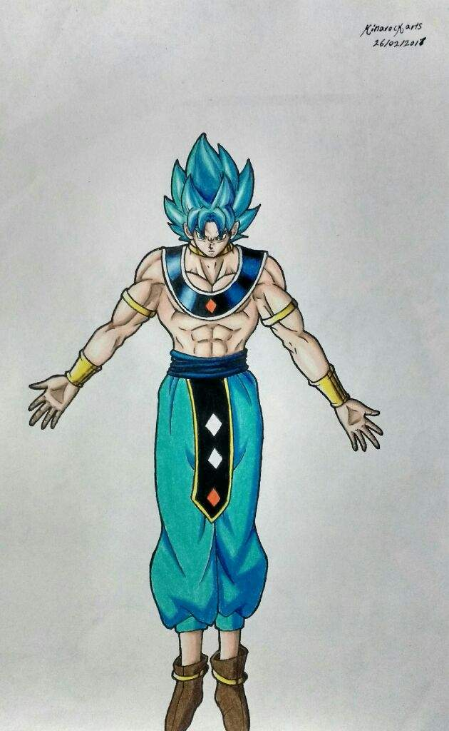 Como dibujar a Goku dios de la destruccin  Anime Amino