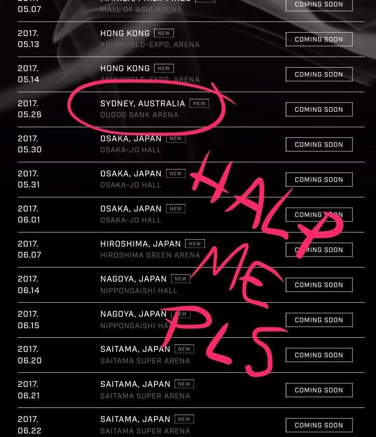 The lacs tour dates in Australia