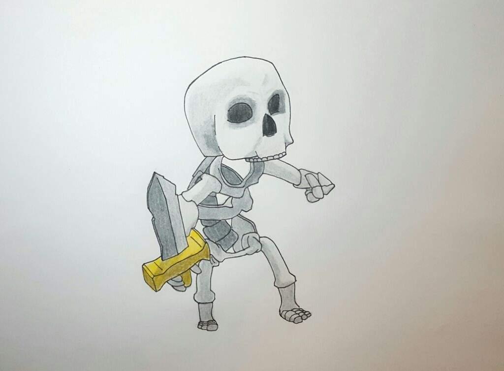 Dibujos Para Dibujar De Clash Royale: Dibujo De ESQUELETO Clash Royale