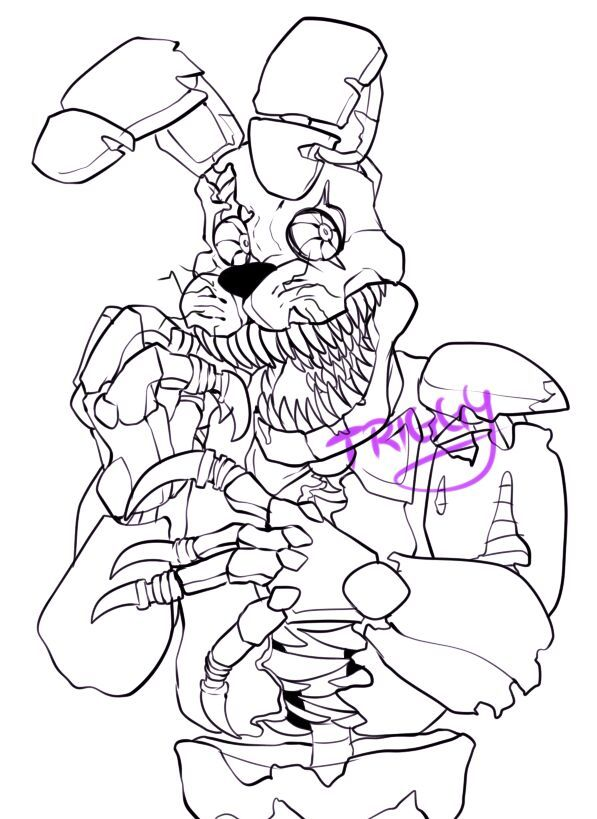nightmare bonnie speedpaint included  five nights at