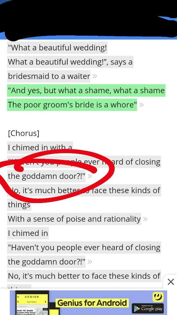 But if you look at lyrics from different websites youu0027ll get both u0027a dooru0027 and u0027the dooru0027. Just Googling the lyrics gives you u0027a dooru0027 and Genius Lyrics ...  sc 1 st  Amino Apps : lyrics door - pezcame.com