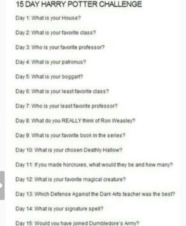 15 Day Harry Potter Challenge Day 2 Harry Potter Amino