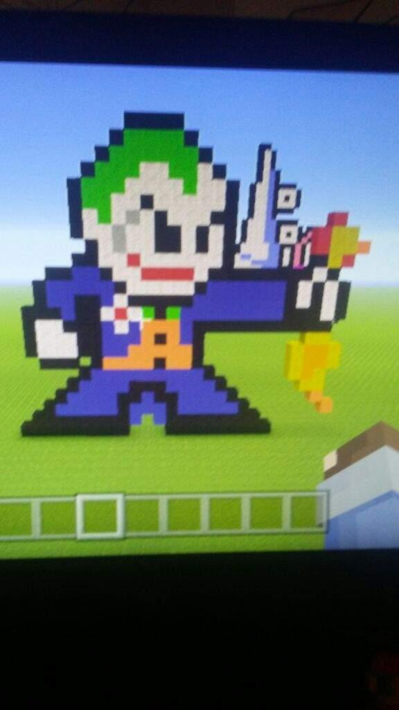 Joker Pixel Art Minecraft Amino