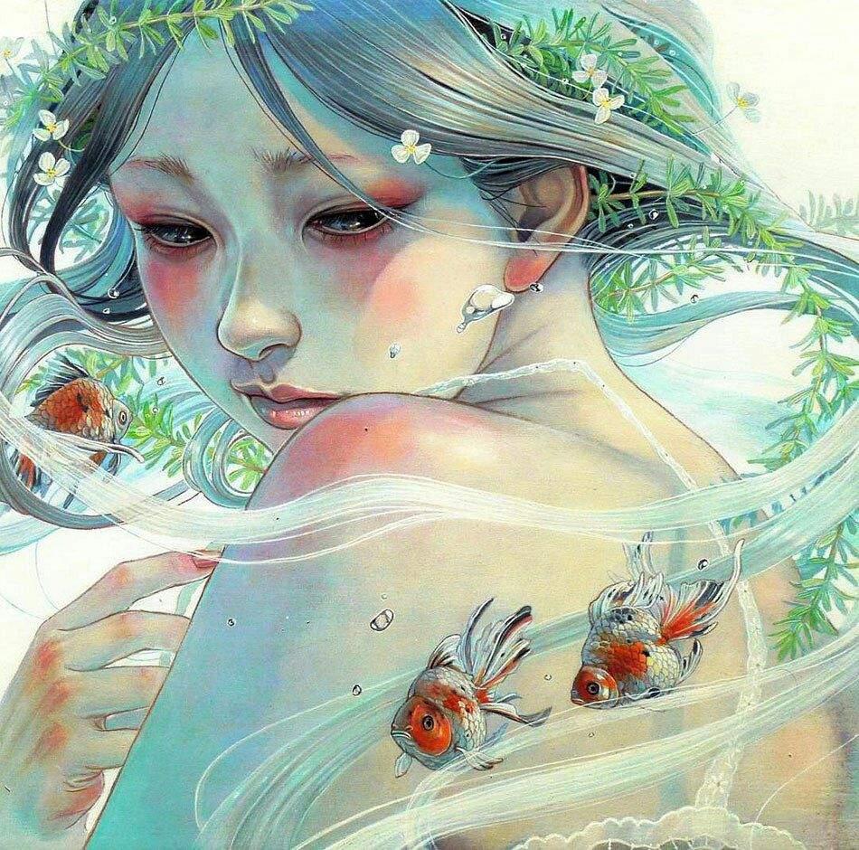 позитивные картинки японского художника как мне