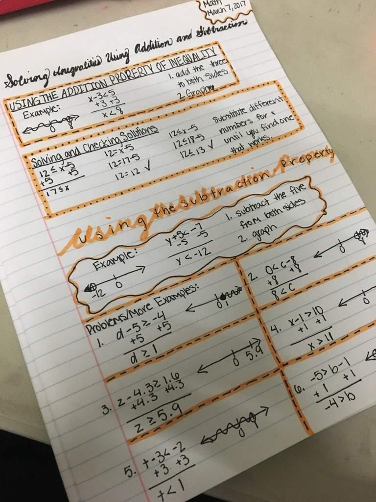 Math Notes/Studying | School Amino