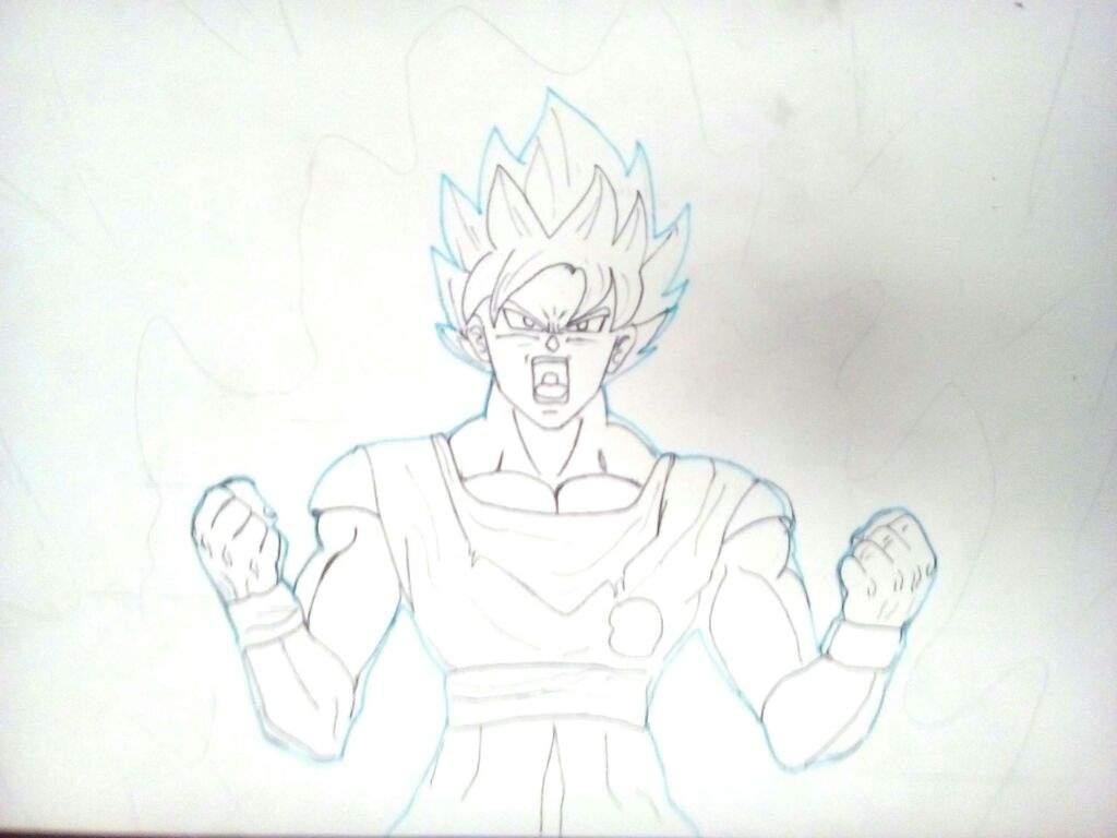 Dibujando A Goku ssj Blue Kaioken. | DRAGON BALL ESPAÑOL Amino