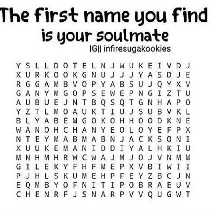 the first name you find is your soulmate army s amino
