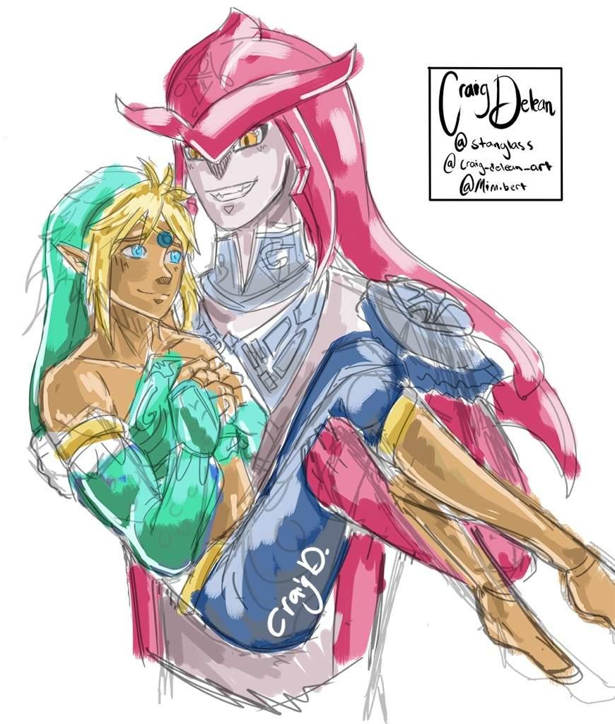 Link X Prince Sidon Botw Doodle Art Amino