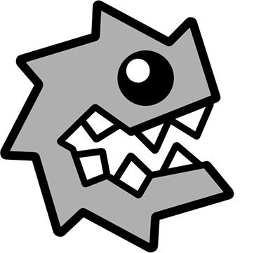 you really have to stretch this one it only kind of looks like a blarg from mario i forget how to unlock this but i bet you will found out sooner or - Geometry Dash Icon Coloring Pages