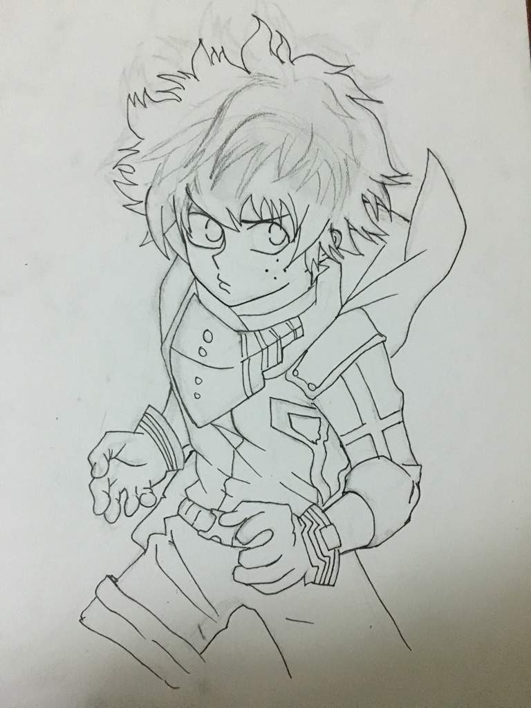 Deku Drawing Process Anime Amino