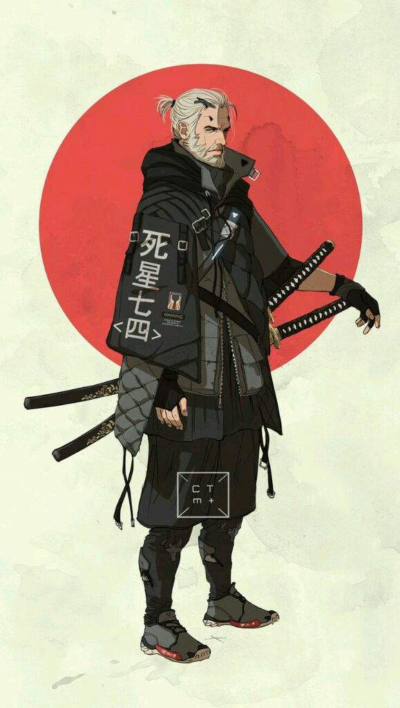 Japanese Influenced Cartoon Characters Samurai Ninja Geisha