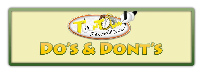 Toontown: Do's and Dont's | Toontown Amino
