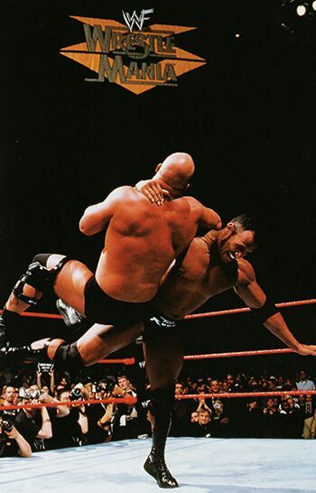 Image result for wrestlemania 15 rock vs stone cold