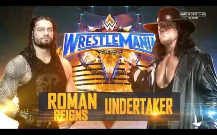 Znalezione obrazy dla zapytania The Undertaker vs. Roman Reigns wm33