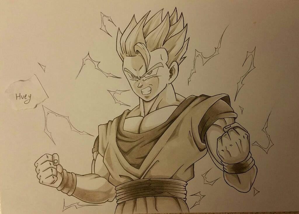 Gohan Dragon Ball Z Easy Drawing