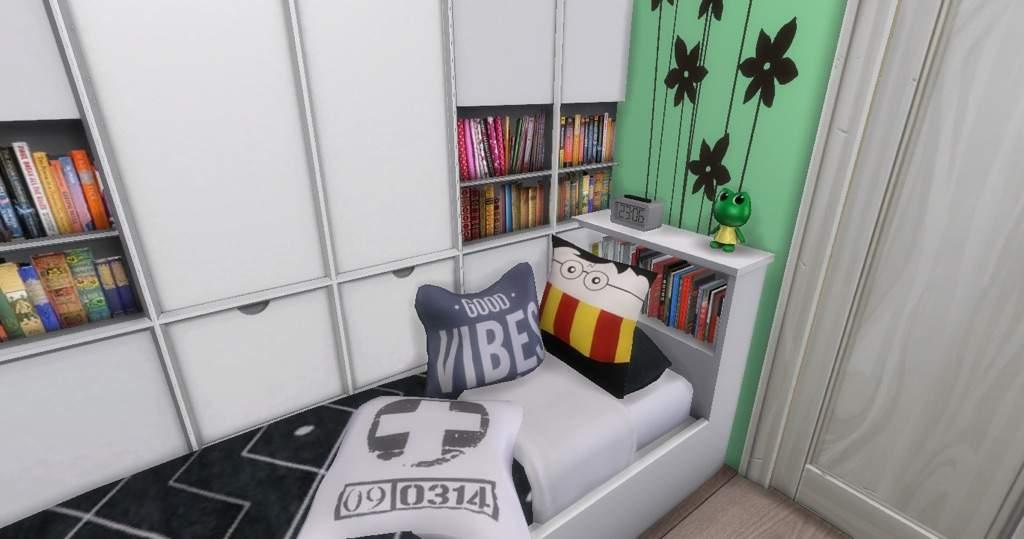 Bright teen bedroom