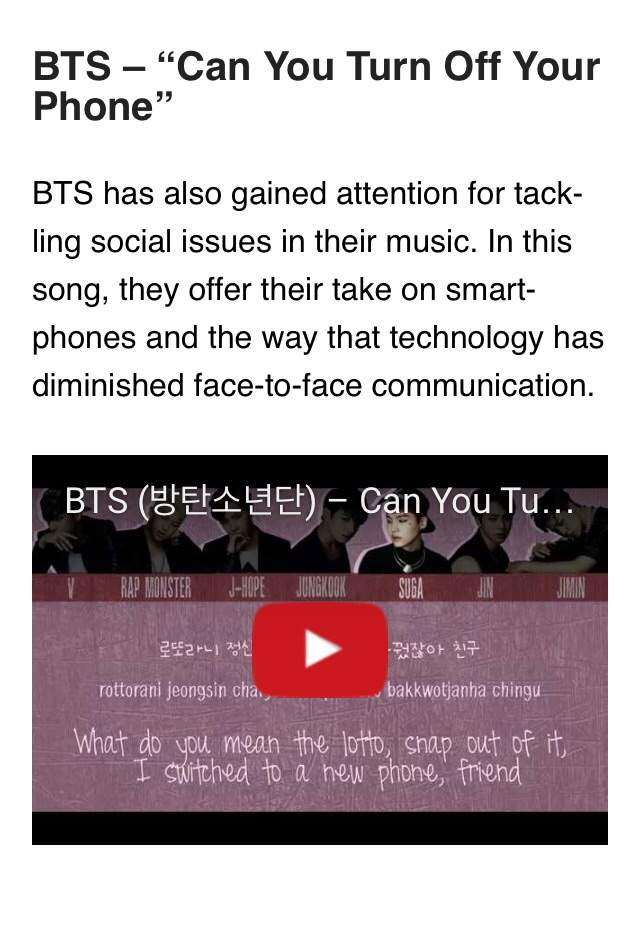 BTS - powerful social message  | ARMY's Amino