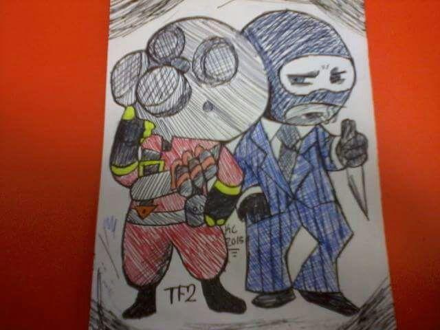Team Fortress 2 Pyro And Spy Fan Art Cosplay Amino