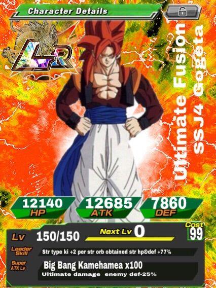 Ssj4 Gogeta Custom Card Dokkan Battle Amino