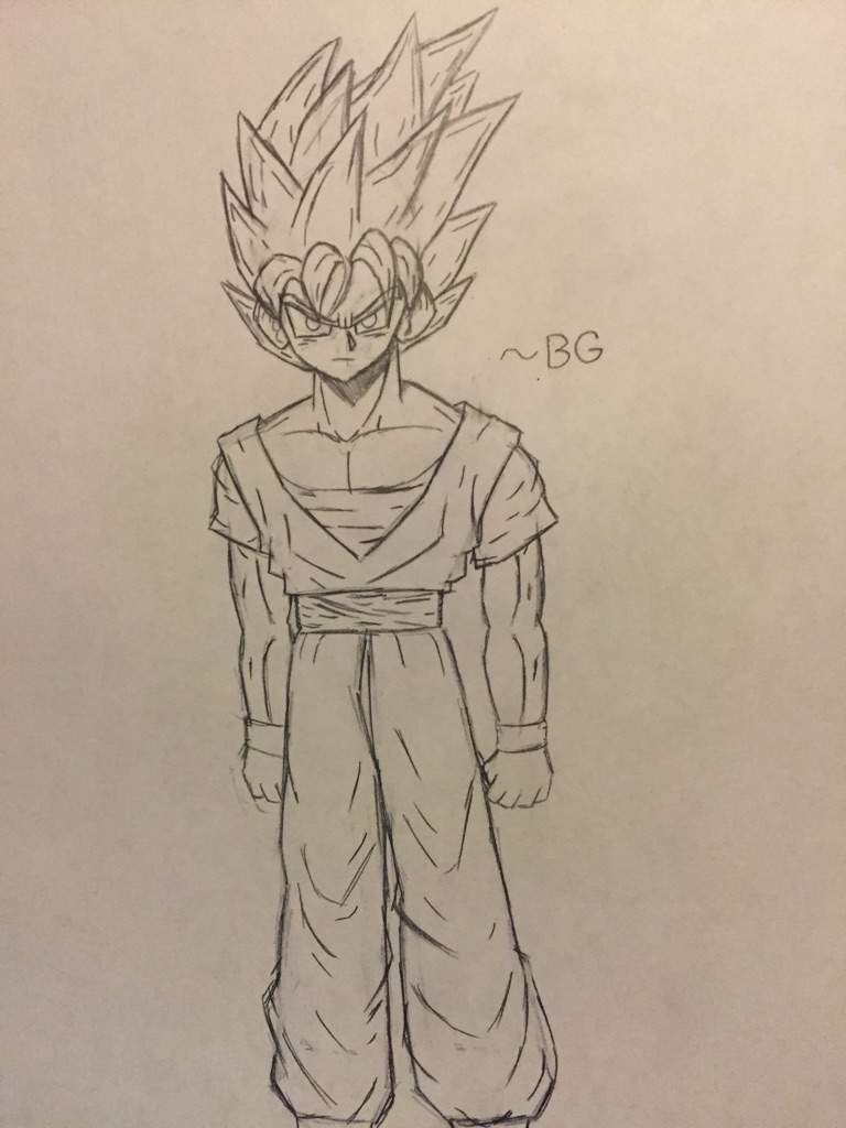 Hello everyone bg here and for a while now ive been meaning to try and get into the art community on this app so i drew goku