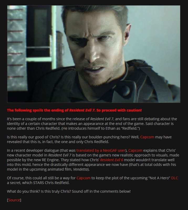 Resident Evil 7 Theory Debunk Resident Evil Amino