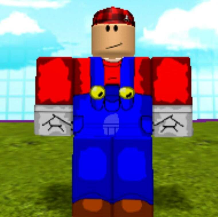 Blue Mario Roblox Mario In Roblox Player Version Mario Amino