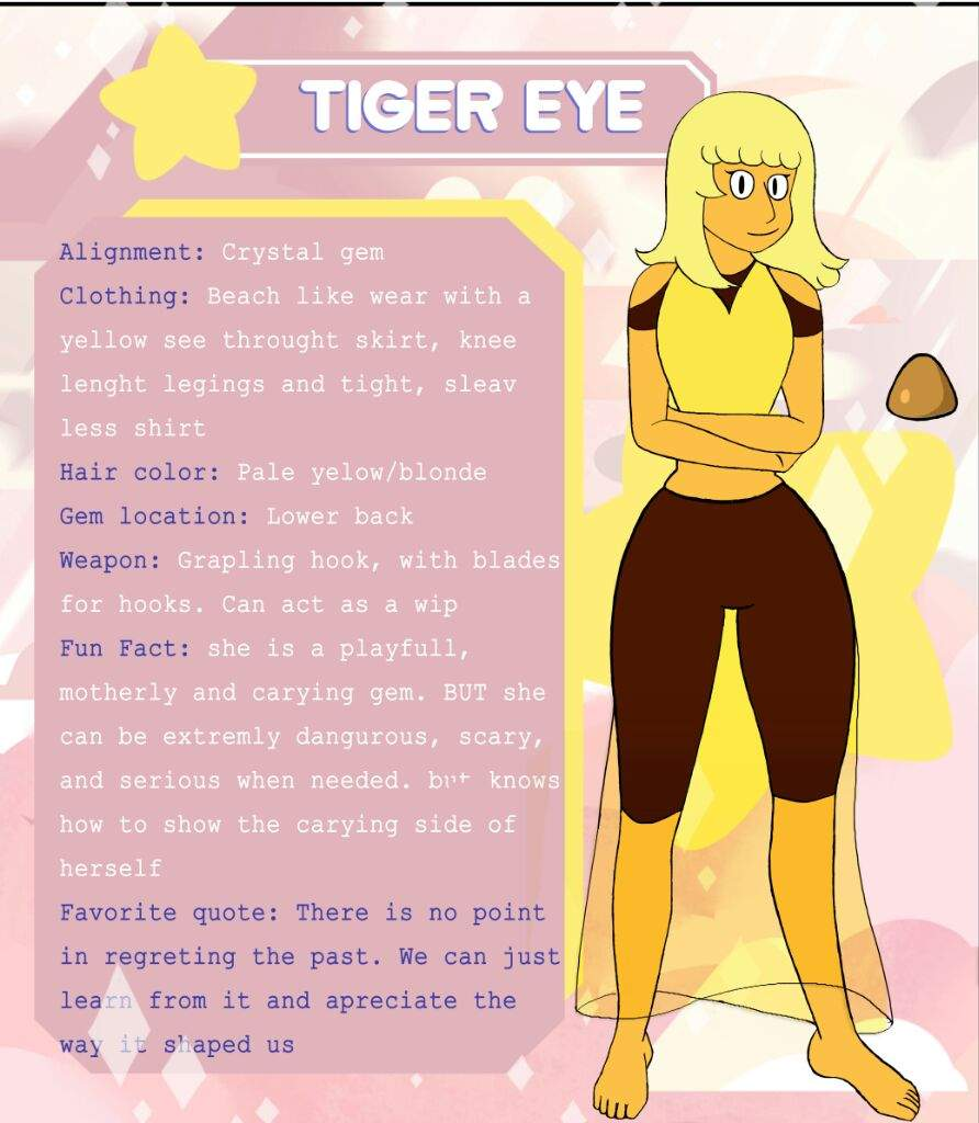 Tiger Eye As A Crystal Gem Steven Universe Amino