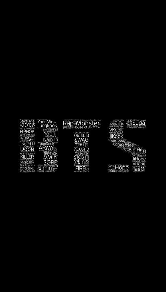 Bts Kpop Word Cloud Wallpapers Ph Concert Announcement Army S