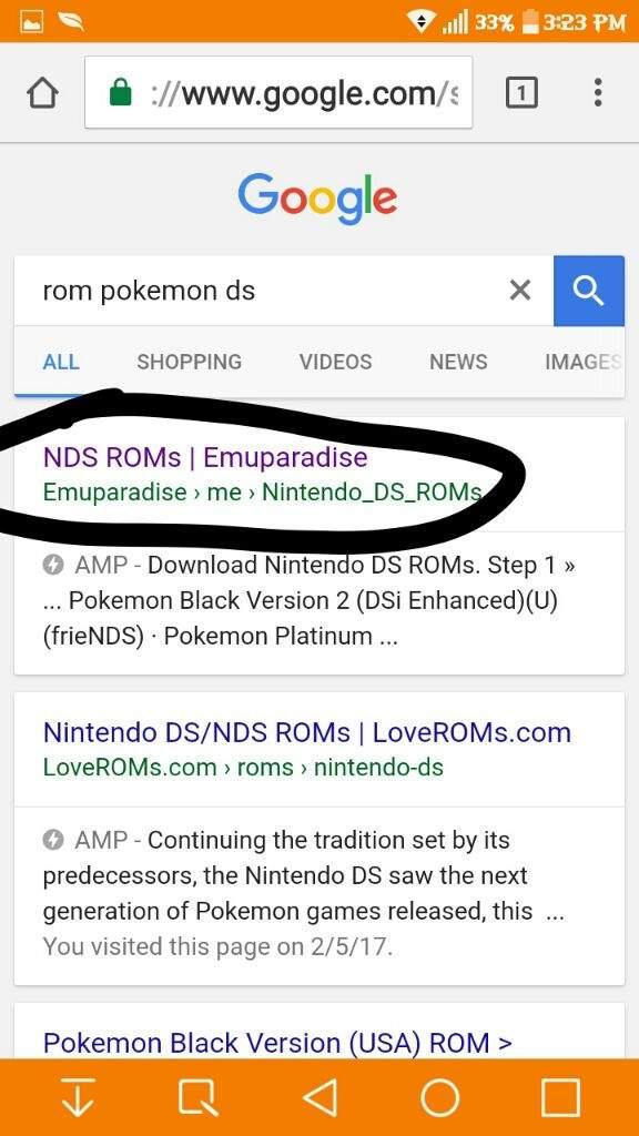 pokemon platinum nds rom emuparadise